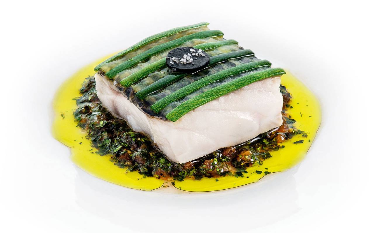 Cooked fish in a 3-star restaurant in Marseille