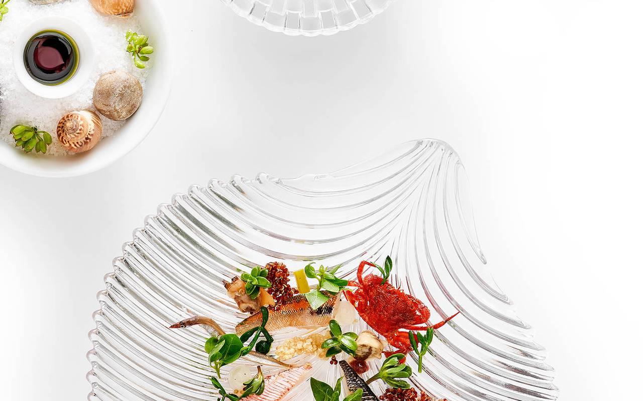 seafood garden dish starred restaurant bouches du rhone