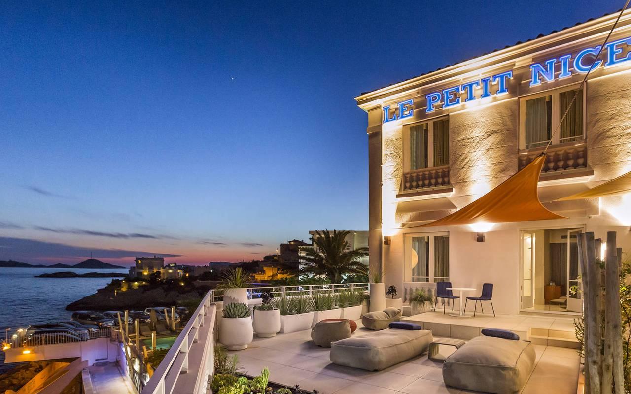 Marseille hotel terrace sea view