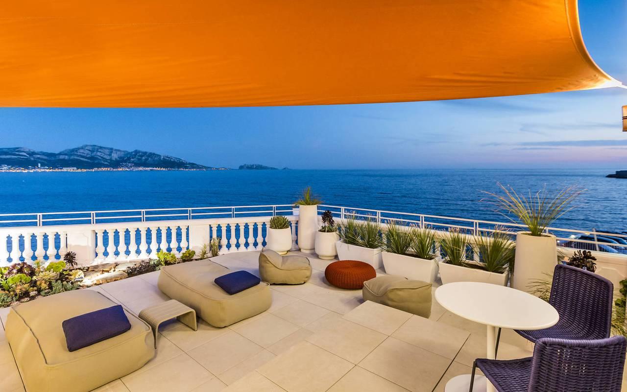 suite romantique hôtel marseille plage