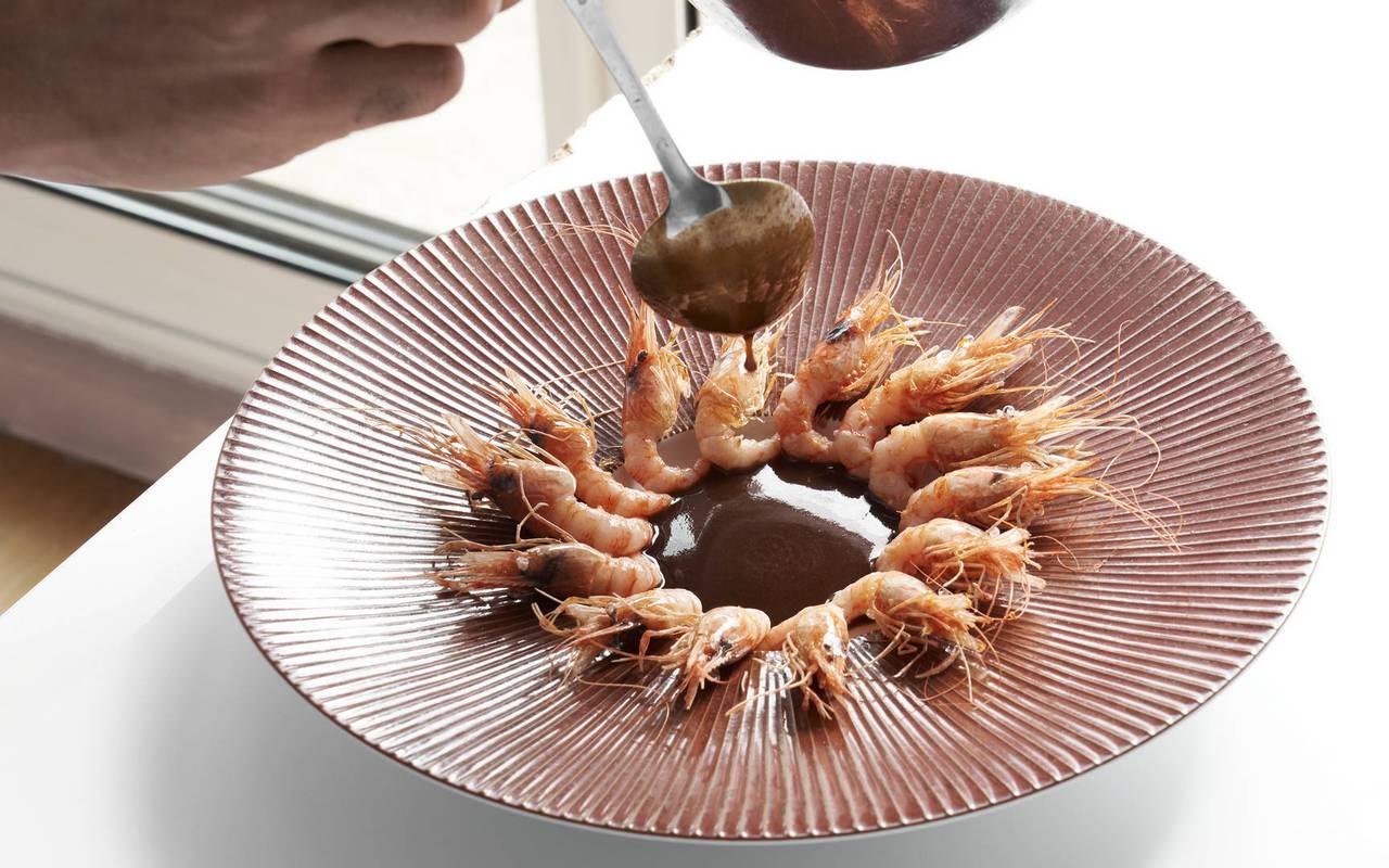 crevettes restaurant gastronomique sud de la france